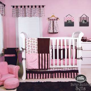 Baby Girl Kid Pink Brown Modern For Crib Nursery Blanket Collection