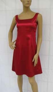 BL1089 BURGUNDY RED SATIN COCKTAIL DRESS SIZE L
