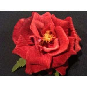 Tanday Rose Flower Hair Clip Velvet Mauve (1 Pair