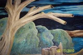 Antique/Vintage Oil Painting Signed Killer Moonlight
