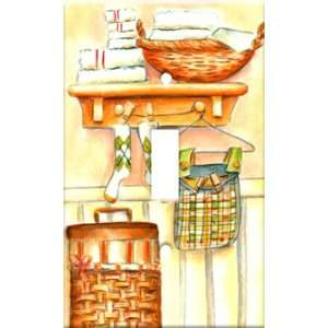 Plate Cover Art Socks Laundry Room Themes Single