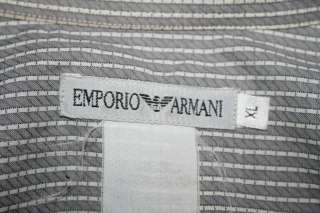 EMPORIO ARMANI Giorgio Men STRIPE Dress SHIRT Sz XL