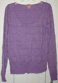 MOSSIMO SUPPLY CO. NWT Womens Purple Scoop Neck Shirt M