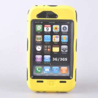 Heavy Duty Tough Cover Case Yellow For iphone 3G 3GS 8G