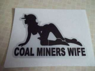 Coal Miners Wife on Knees Coal Mining Sticker