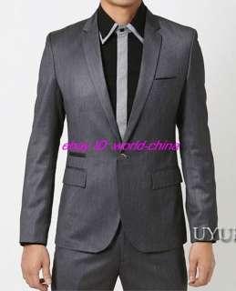 Mens Fashion style Slim Fit Metal Button Blazer US XS