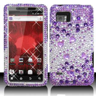 Crystal Diamond BLING Hard Case Cover for Motorola Droid Bionic