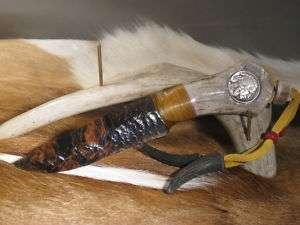 Ken Hull design~Wild Bill Obsidian Knife~Buffalo Nickel