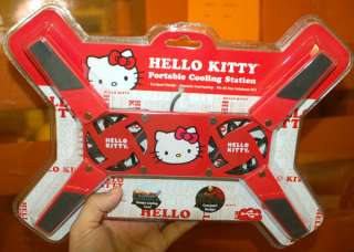 HELLO KITTY LAPTOP NETBOOK COOLING PAD STRAWBERRY RED