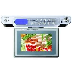 Curtis KCR2614A 7 Inch Undercabinet Digital Alarm Clock Radio with LCD