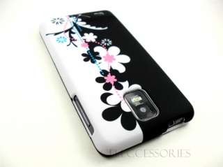 SAMSUNG INFUSE 4G WHITE BLACK PINK FLOWERS COVER CASE
