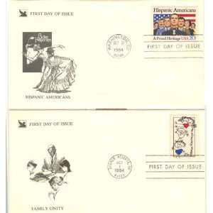 USA Two First Day Covers, Extra Fine Condition Hispanic