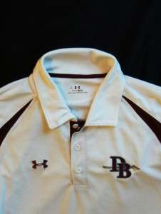 white HEAT GEAR Loose Fit Sports Polo Collar Shirt L Large