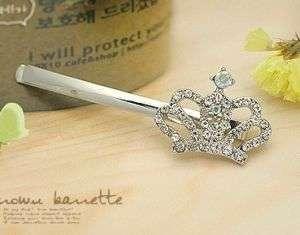Fashion Rhinestones Crystal Crown Hairpin Tiara 0894
