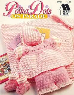 Polka Dots on Parade Baby Ensemble & Afghan patterns