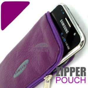 PU Leather Zip Pouch Case For Samsung Galaxy Ace S5830