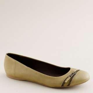Zip front ballet flats   ballets   Womens shoes   J.Crew