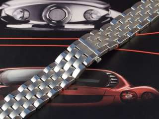 Stainless Steel Watch Strap with Butterfly Deployment Clasp