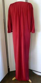 70S CELEBRITY HALSTON IV SAKS FIFTH AVE DRAPEY CAFTAN DISCO DRESS L