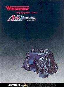 1980 Winnebago Motorhome RV Air Diesel Engine Brochure