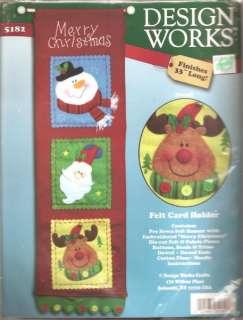 Design Works Christmas Felt Card Holder Kit Snowmen