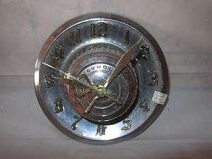 Vintage Chevy Corvette Hub Cap Clock 1966 1976