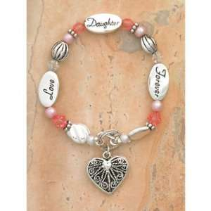 Love Daughter Forever Charm Bracelet 7 1/2  Home