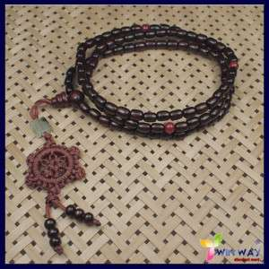 Wood Beads Tibet Buddhist Prayer Bracelet Mala Buddha