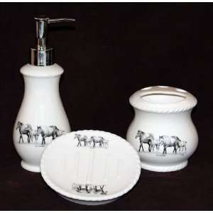Young & Restless Ceramic Bath Set Home & Kitchen