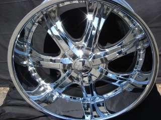 Wheel + Tire Package 22 inch Triple chrome rim U2 35