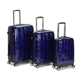 Fox Luggage Rockland 3 Pc Polycarbonate Luggage Set in Purple By Fox