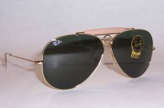 NEW RAY BAN Sunglasses AVIATOR SHOOTER 3138 001 GOLD 58mm AUTHENTIC