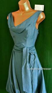 New MONSOON Teal Green BETTY Ruched Cocktail Bridesmaid Dress   All