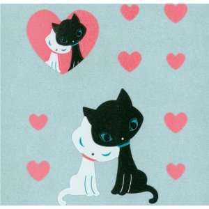 cute kitty couple sticker with pink hearts Toys & Games