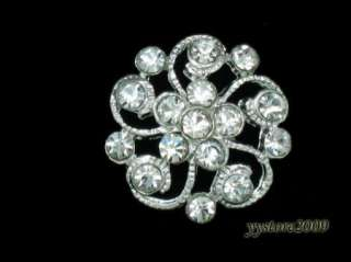 10 Sparkling Clear Crystal Rhinestone Buttons #A36 Sale