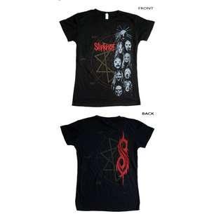 JiGGy Slipknot   Stacked Heads Baby Doll T Shirt