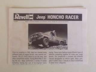 4x4 JEEP HONCHO Racer Truck Pickup 7390 1:25 Revell Model Kit Vtg
