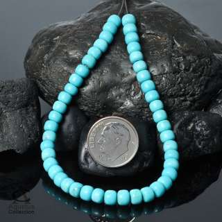 Strand SLEEPING BEAUTY TURQUOISE Rondelle BEADS 7.08
