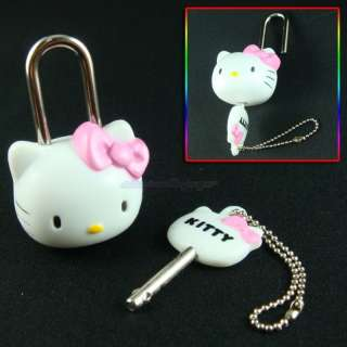 Hello Kitty Mini Pad Lock With Key Safety Security #M10