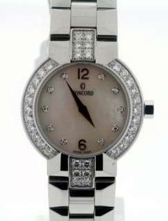new concord la scala stainless steel ladies diamond watch