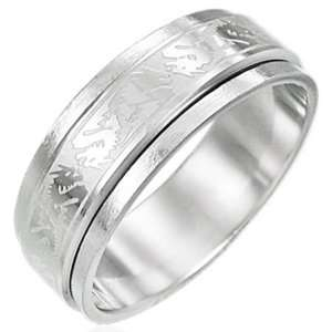 316L Stainless Steel 8mm Dragon Spinner Ring