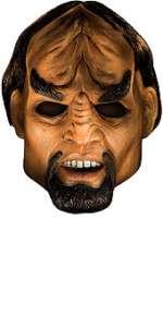 Star Trek Deluxe Lt. Worf Overhead Mask Klingon Costume