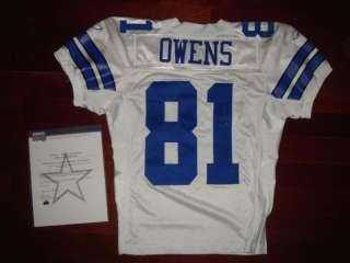 2008 Terrell Owens Game Worn Cowboys Jersey  SteinerLOA