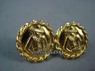 Authentic Chanel Gold Plated Gorgeous Earrings Great