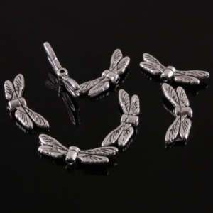 F0910*100Pc Tibetan Silver Dragonfly Wings Spacer Beads