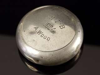 Sterling Silver Tobacco Snuff Case, Birmingham 1903
