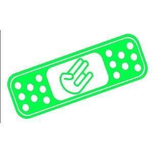 BAND AID SHOCKER CUSTOM   8 LIME GREEN   Vinyl Decal WINDOW Sticker