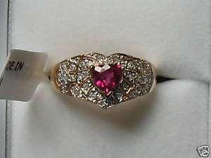 Pink Trilliant Rubelite Tourmaline Diamond 14kt Ring