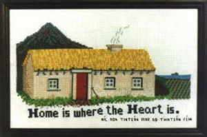Irish Traditional Cottage Celtic Cross Stitch KIT