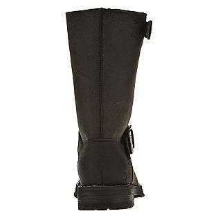 Womens Leather Boot Motorcycle Kickshaw   Black  Skechers Shoes